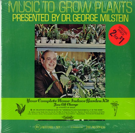 Music to grow plants record cover front