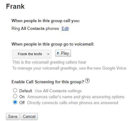 legacy google voice group editor