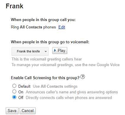 legacy google voice group editor