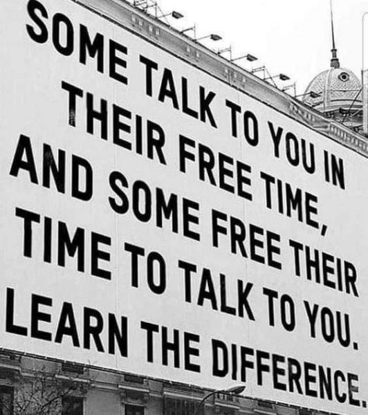 Some talk to you in their free time